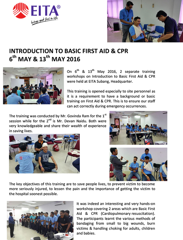 the importance of basic first aid training essay The importance of first aid and the steps in which to carry the procedure out basic first aid and what not to do first aid training.