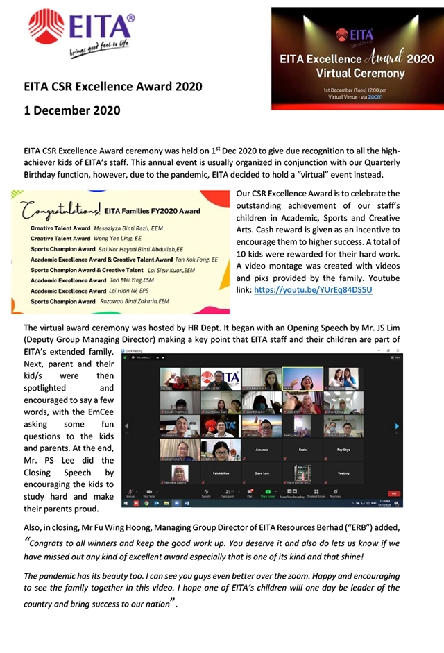 CSR - EITA Excellence Award 2020 Virtual Ceremony-1