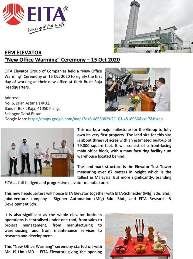 EEM - Bukit Raja - Office Warming Ceremony - 15 Oct 2020-1